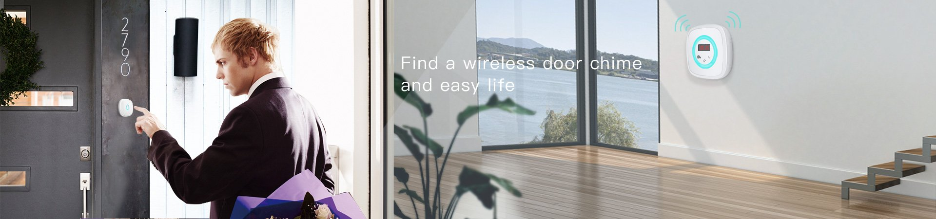 Find a wireless door chime and easy life