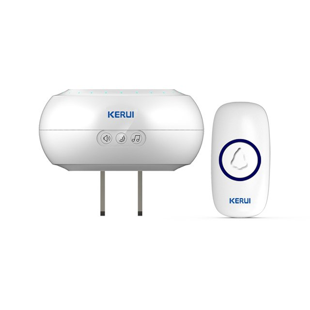 Kerui M523 Wireless Doorbell with F55 Push Button, Operating at over 500 Feet with 32 Chimes, 4 Volume Levels, LED Indicator, 1 Plugin Receiver & 1 Push Button