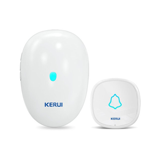Kerui M521 Wireless Doorbell with F52 Push Button, Operating at over 500 Feet with 57 Chimes, 4 Volume Levels, LED Indicator, Memory Function, 1 Plugin Receiver & 1 Push Button Transmitter