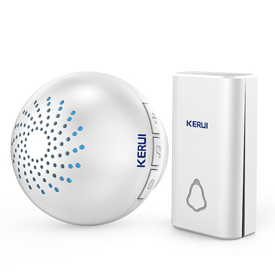 Kerui M622 Wireless Doorbell with F561 Push Button, Operating at over 500 Feet with 32 Chimes, 4 Volume Levels, LED Indicator, 1 Plugin Receiver & 1 Push Button