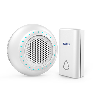 Kerui M623 Wireless Doorbell with F561 Push Button, Operating at over 500 Feet with 32 Chimes, 4 Volume Levels, LED Indicator, 1 Plugin Receiver & 1 Push Button