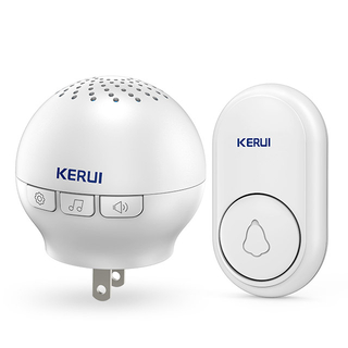 Kerui M622 Wireless Doorbell with F56 Push Button, Operating at over 500 Feet with 32 Chimes, 4 Volume Levels, LED Indicator, 1 Plugin Receiver & 1 Push Button