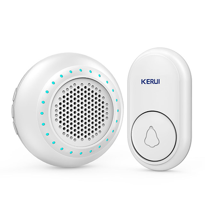 Kerui M623 Wireless Doorbell with F56 Push Button, Operating at over 500 Feet with 32 Chimes, 4 Volume Levels, LED Indicator, 1 Plugin Receiver & 1 Push Button